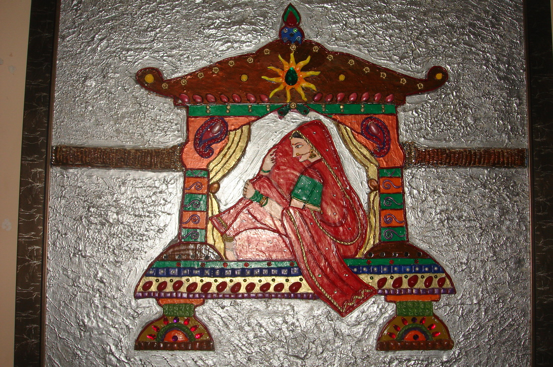 Paintings 1 chittara for Mural work using m seal